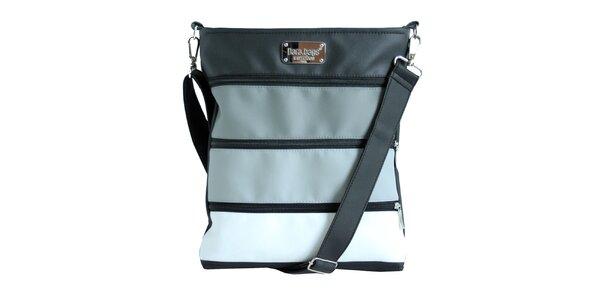 Dámská pruhovaná kabelka se zipy Dara Bags