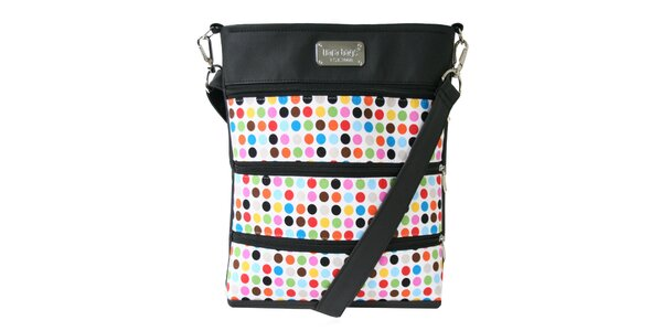 Dámská velká obdélníková taška přes rameno s barevnými puntíky Dara Bags