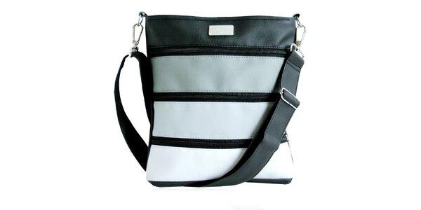 Dámská pruhovaná zipová kabelka Dara Bags