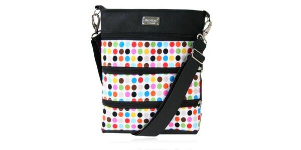 Dámská obdélníková taška přes rameno s barevnými puntíky Dara Bags