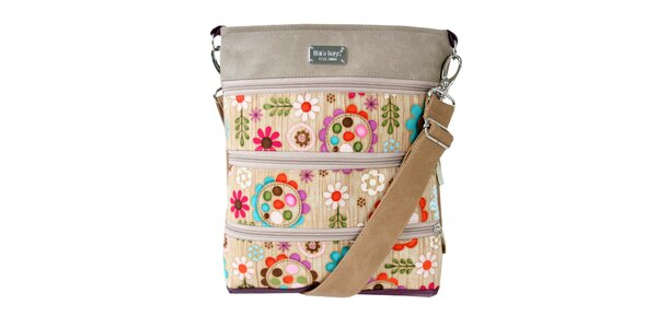 Dámská obdélníková taška přes rameno s barevným vzorem Dara Bags