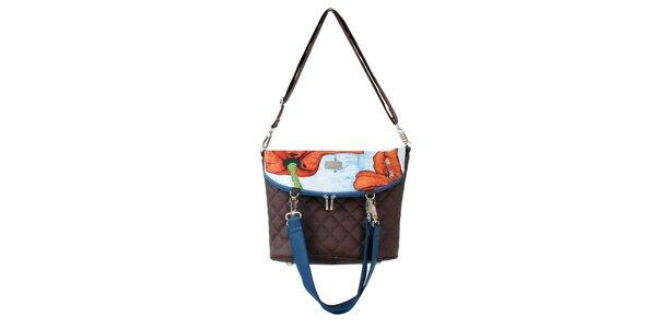 Dámská kabelka s červenými květy Dara Bags