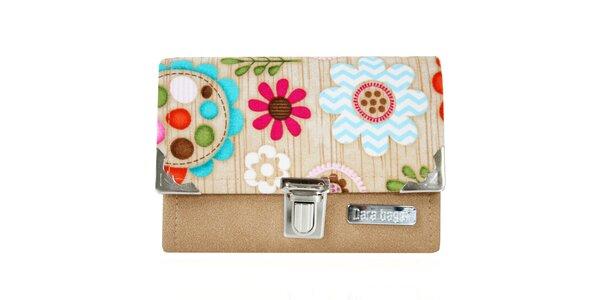 Dámská peněženka s barevným květinovým vzorem Dara Bags