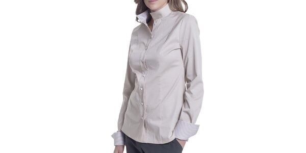 Dámská béžová košile s dlouhým rukávem Lora Gene