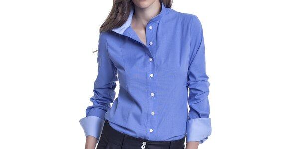 Dámská modrá košile s dlouhým rukávem Lora Gene