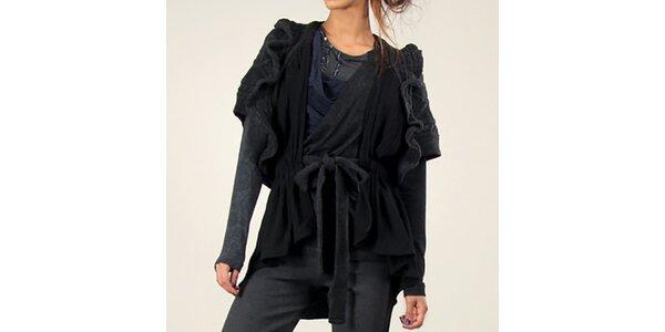 Dámská antracitová vesta s krátkým rukávem Angels Never Die