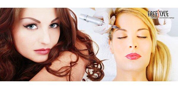Permanentní make-up obočí nebo očních linek
