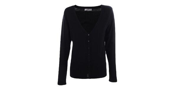 Dámský černý svetr s knoflíky Pietro Filipi