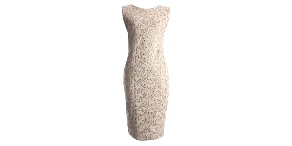 Dámské béžové šaty s flitry CeMe London