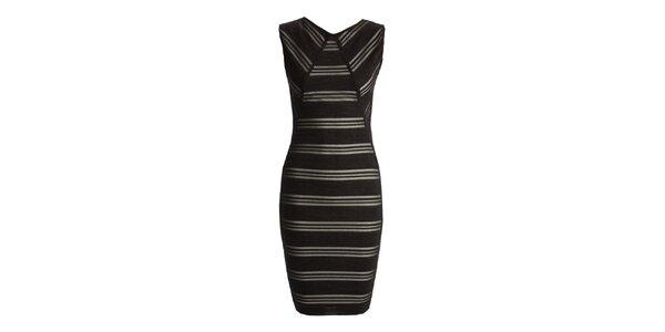 Dámské černé šaty s proužky CeMe London