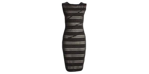 Dámské černé pruhované šaty CeMe London