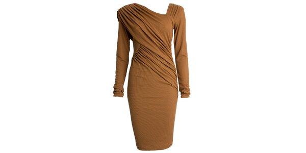 Dámské nařasené šaty s dlouhým rukávem CeMe London