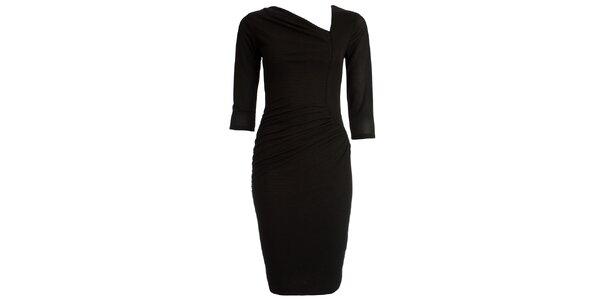 Dámské černé šaty s asymetrickým výstřihem CeMe London