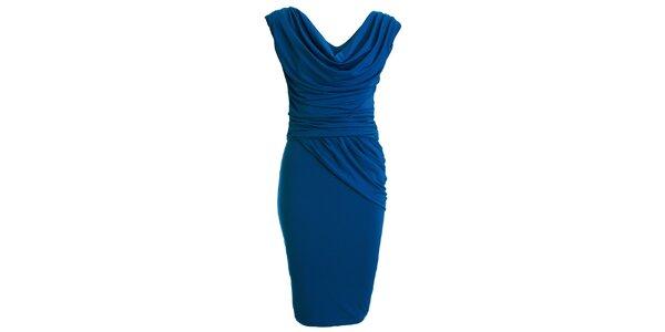 Dámské modré šaty s vodovým výstřihem CeMe London