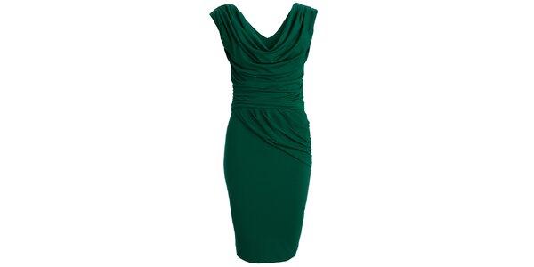 Dámské zelené šaty s vodovým výstřihem CeMe London