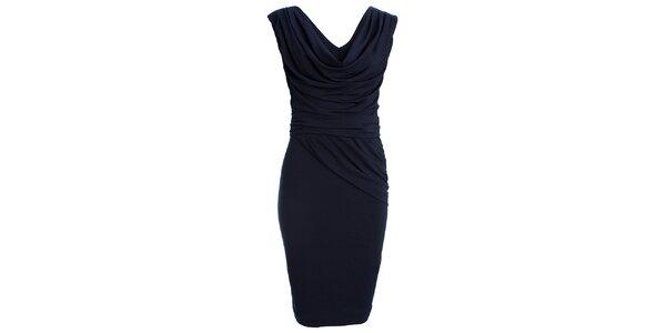 Dámské tmavě modré šaty s vodovým výstřihem CeMe London