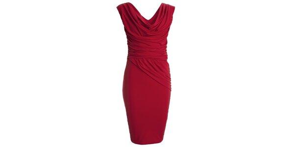 Dámské červené šaty s vodovým výstřihem CeMe London