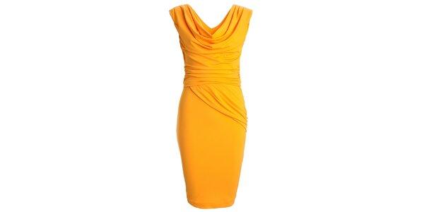 Dámské žluté šaty s vodovým výstřihem CeMe London