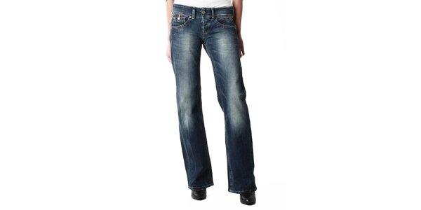 Dámské rovné modré džíny s šisováním Replay 7a5ea27284