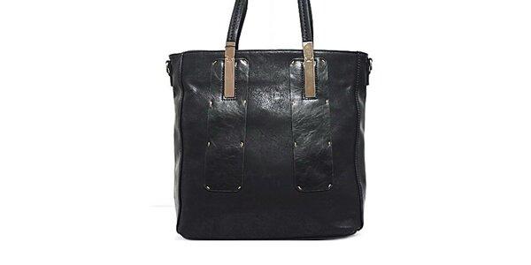 Dámská černá kabelka s kovovými prvky Bessie