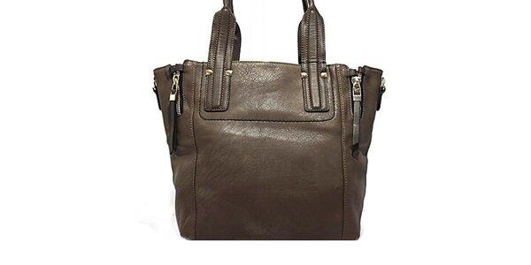 Dámská tmavá kabelka s okrasnými zipy Bessie