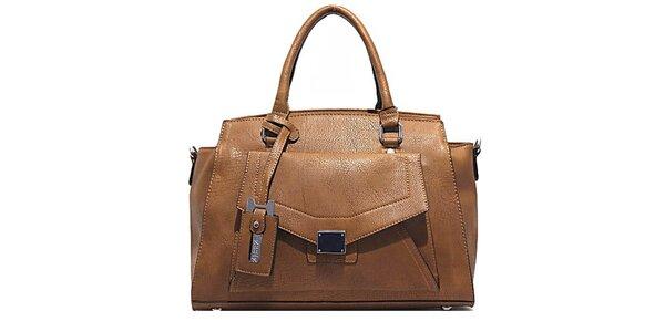 Dámská hnědá kabelka s vnější kapsou Bessie