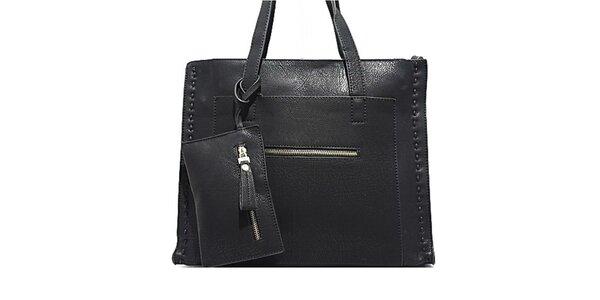 Dámská černá kabelka s prošíváním Bessie