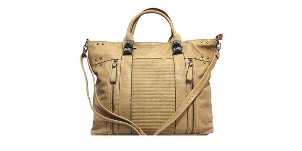 Dámská kabelka s ozdobnými zipy a cvočky Bessie