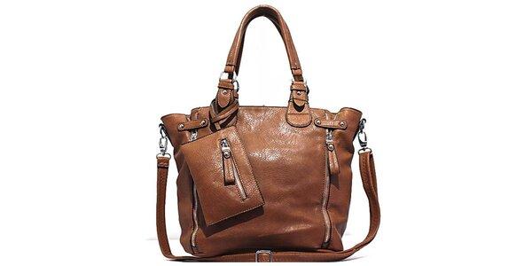 Dámská hnědá kabelka s kapsičkou Bessie