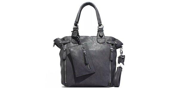 Dámská šedá kabelka s kapsičkou Bessie