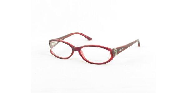 Dámské rudé oválné obroučky Valentino
