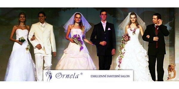1200 Kč za voucher v hodnotě 2400 Kč na půjčení či nákup svatebních šatů.