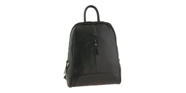Dámský černý kožený batoh Valentina Italy