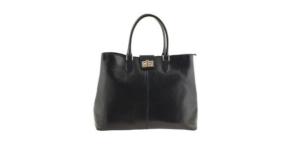 Dámská černá kabelka s pevnými uchy Valentina Italy