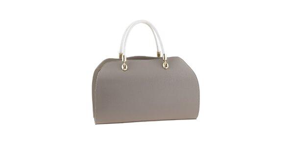 Dámská béžovo-bílá kabelka s kovovými prvky Valentina Italy