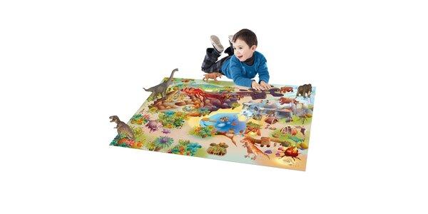 Hrací podložka Dinosauři 80x120 cm