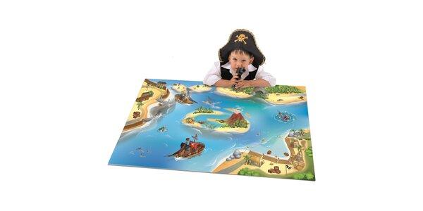 Hrací podložka Piráti 80x120 cm