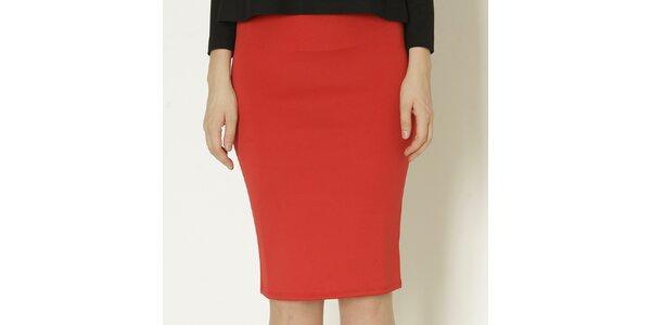 Dámská červená pouzdrová sukně Keren Taylor