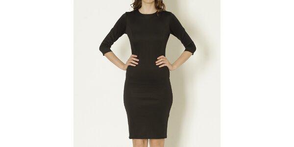 Dámské černé pouzdrové šaty s polodlouhým rukávem Keren Taylor