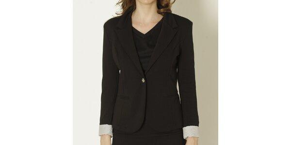 Dámské černé sako se světlými manžetami Keren Taylor