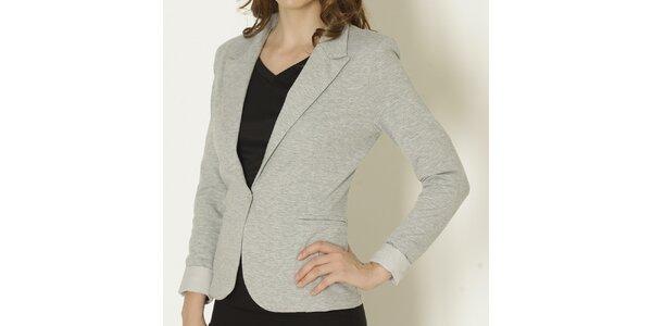 Dámské šedé sako se světlými manžetami Keren Taylor