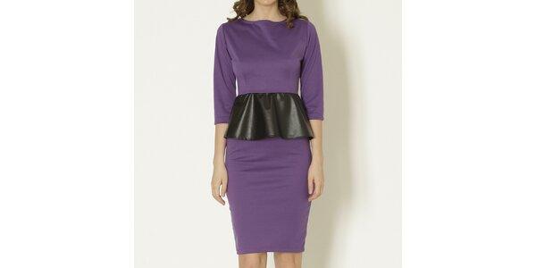 Dámské fialové peplum šaty Keren Taylor
