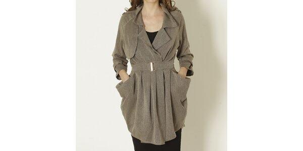 Dámský béžový kabát s páskem Keren Taylor