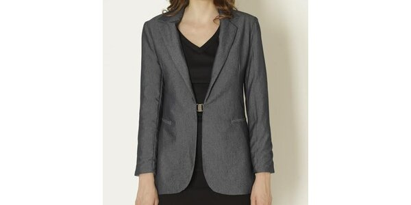 Dámské tmavě šedé sako se sponou Keren Taylor