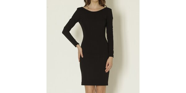 Dámské černé šaty s odhalenými zády Keren Taylor