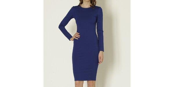 Dámské modré šaty s dlouhým rukávem Keren Taylor