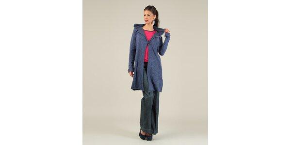 Dámský tmavomodrý svetr s kapucou Lili Lovely