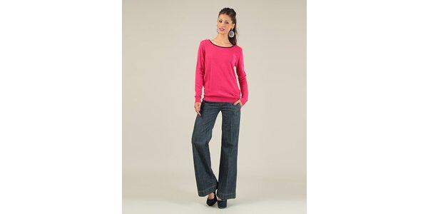 Dámský fuchsiový svetr s mašlemi Lili Lovely