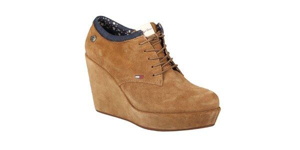 Dámské světle hnědé boty na platformě Tommy Hilfiger