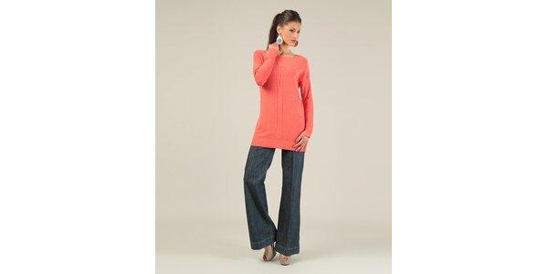 Dámský korálový svetr s překříženými zády Lili Lovely